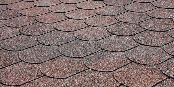 Brown roof tiles